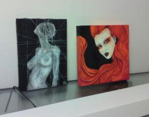 Acrylic&ink on canvas